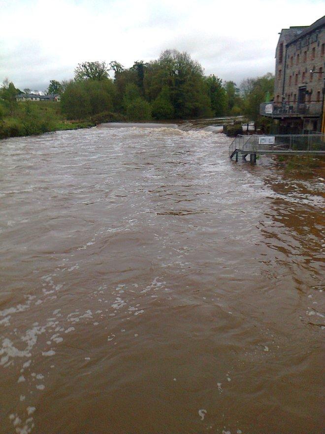 Mulkear in full flood this evening 07/05/15